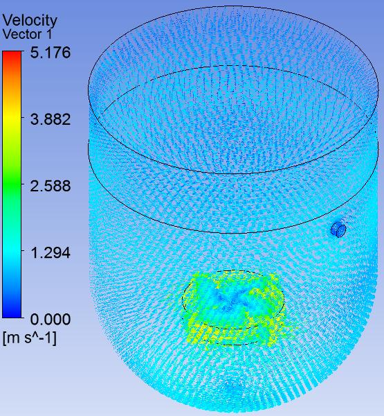 Air-Water Mixing Tank - Velocity vectors