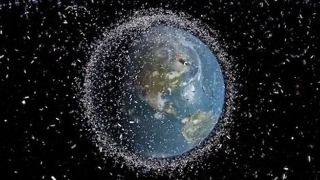 Space debris around Earth