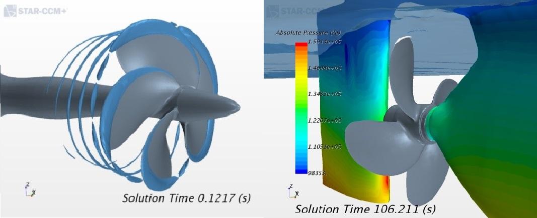 Investigation of Cavitation Influence on Rudder-Propeller